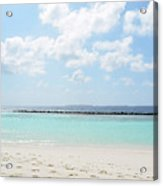Beach On An Island In The Maldives With Turquoise Water Acrylic Print