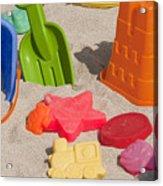 Beach Toys Acrylic Print
