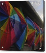 Beach Umbrella Row Acrylic Print