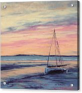Beached At Sunset Acrylic Print