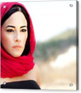 Beautiful Arabic Woman Acrylic Print by Anna Om