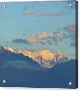 Beautiful Countryside Of The Italian Mountains With A Cloudy Sky Acrylic Print
