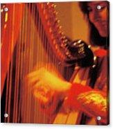 Beautiful Harp Player Acrylic Print