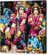 Beautiful Image Of Krishna And Radhe From Boise Hare Krishna Temple Acrylic Print