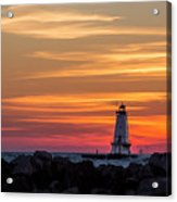 Beautiful Ludington Lighthouse Sunset Acrylic Print