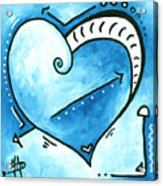 Beautiful Original Acrylic Heart Painting From The Pop Of Love Collection By Madart Acrylic Print