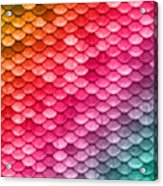 Beautiful Pastel Diagonal Rainbow Spectrum II Mermaid Fish Scales Acrylic Print