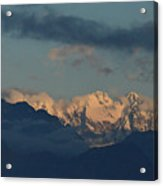 Beautiful Scenic View Of The Mountains In Italy  Acrylic Print