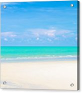 Beautiful Sea Sand And Sky In Pranburi Thailand Acrylic Print