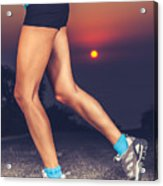 Beautiful Sportive Womens Legs Acrylic Print