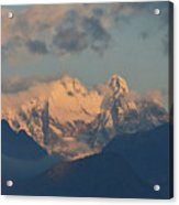 Beautiful View Of The Dolomites Mountains In Italy  Acrylic Print
