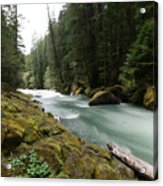 Beautiful White Water Acrylic Print