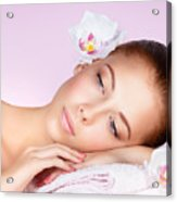 Beautiful Woman Face Acrylic Print