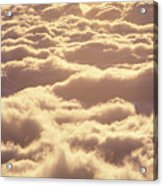 Bed Of Puffy Clouds Acrylic Print