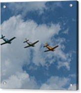 Beechcraft T-34 Mentor Airplane Trio 3 Acrylic Print