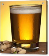 Beer In Glass Acrylic Print