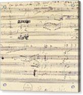 Beethoven Manuscript, 1826 Acrylic Print by Granger