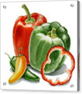 Bell Peppers Jalapeno Acrylic Print