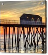 Belmar Fishing Pier Sunrise Acrylic Print