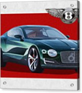 Bentley E X P  10 Speed 6 With  3 D  Badge  Acrylic Print