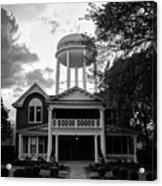 Bentonville Arkansas Water Tower - Black And White Acrylic Print