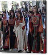 Bethlehemites In Traditional Dress Acrylic Print