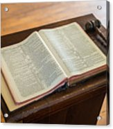 Bible And Gavel Acrylic Print