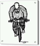 Biking Man Acrylic Print
