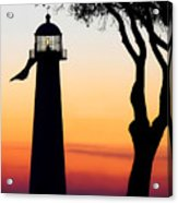 Biloxi Lighthouse At Dusk Acrylic Print