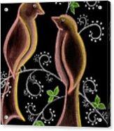Bird Doodle Acrylic Print