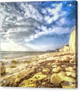 Birling Gap And Seven Sisters Art Acrylic Print