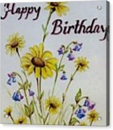 Birthday Card Acrylic Print