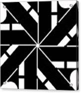 Black And White Geometric Acrylic Print
