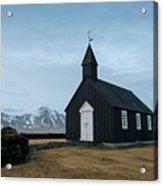 Black Church Of Budir, Iceland Acrylic Print