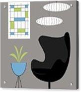 Black Egg Chair Acrylic Print
