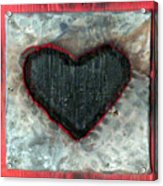 Black Heart Acrylic Print by Jane Clatworthy