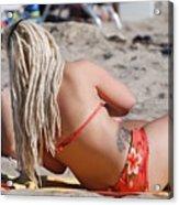 Blondie Braids Acrylic Print