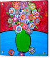 Blooms 3 Acrylic Print by Pristine Cartera Turkus