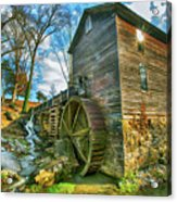 Blowing Cave Mill Near Smoky Mountains Of East Tennessee Acrylic Print