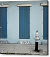 Blue And Silver At 1243 Acrylic Print