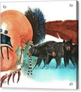 Blue Bears Acrylic Print
