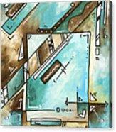 Blue Bonnet Original Abstract Pop Art Style Acrylic Painting By Madart Acrylic Print