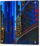 Blue Cityscape Acrylic Print