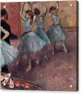 Blue Dancers Acrylic Print by Edgar Degas