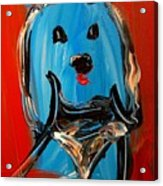 Blue Dog Acrylic Print
