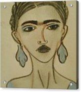 Blue Frida Acrylic Print