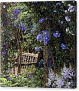 Blue Garden Respite Acrylic Print