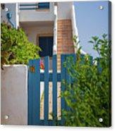Blue Gate In Greece Acrylic Print