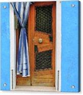 Blue In Burano Acrylic Print