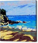 Blue Lagoon Coast Acrylic Print